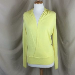 The Limited Yellow Surplice Front Sweater
